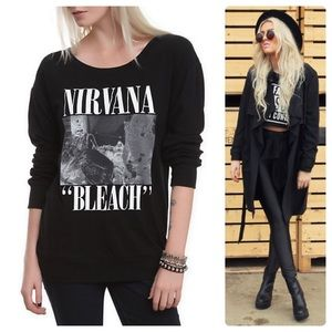 """•NIRVANA• Long Seeve """"Bleach"""" Graphic Pullover"""